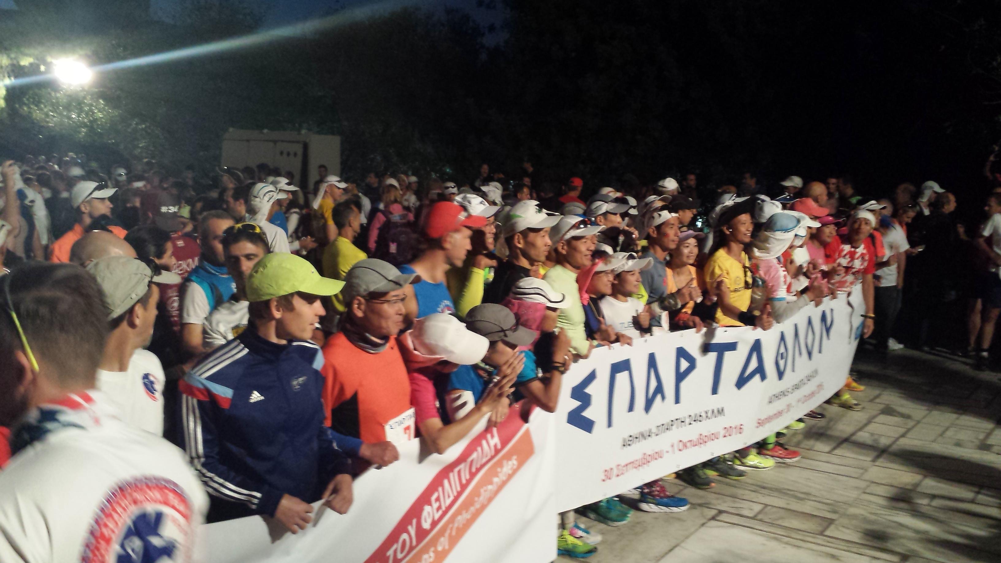 Kort før starten på Spartathlon 2016