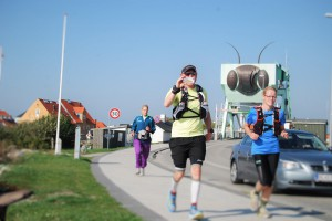 Jette, Søren og Kenneth har løbet fra de 30 km fra Skæskør til Karrebæksminde